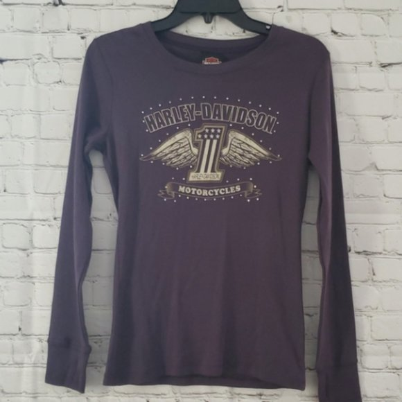 NWT Purple Edmonton Alberta Harley Davidson Shirt